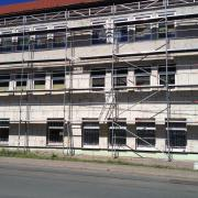 Straßenseite  Bauphase